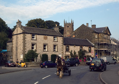 Horse and trap in Hartington main street